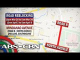 Alternate routes mapped for Holy Week road reblocking
