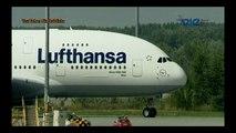 Airbus A380 abflug von Wien nach der Namensgebung