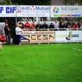 Grosse Percussion durant le match de playoff Trignac- Drancy