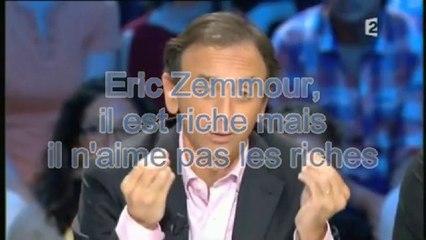 Eric Zemmour, le riche et parvenu qui n'aime pas les riches et parvenus