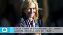 Spain's Indicted Princess Presents List of Blocked Assets to Be Blocked, Seeks Bail Reduction
