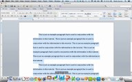Office Tutorials - Copying, Pasting, and Formatting an Excel Graph (Microsoft Word 2011)