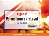 (J36) Valenciennes 2-2 Laval, réaction de D. Zanko