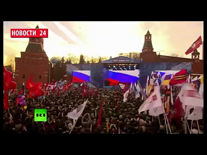 ПУТИН Сегодня 09.05.2015 Я всегда считал что Россия И Украина один народ! Я и сейчас так считаю!