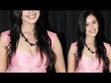 Hrishita Bhatt Sexy Juggs in Pink DRESS @ Hira Manek Women's Achievers Award