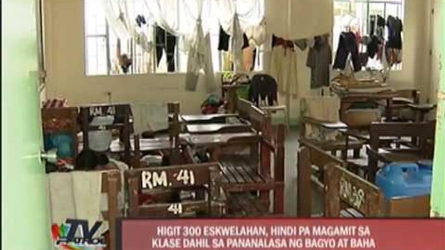 Schools either flooded or used as evacuation centers