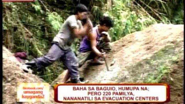 220 families in Baguio, Benguet remain in evacuation centers
