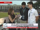 Younghusbands go head to head in 'dream match'