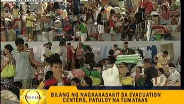 Illnesses spread in evacuation centers