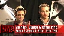 BROMANCE, Kirk, Spock and Blunty - Zachary Quinto & Chris Pine Star Trek Stars