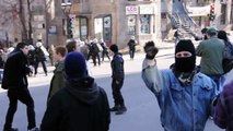 Stun Grenades And Pepper Spray Grenades Are Used During COBP Protest Against Police Brutality