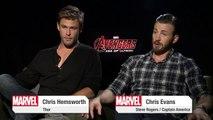 "Chris Hemsworth and Chris Evans on Marvel's ""Avengers_ Age of Ultron"""