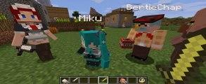 Minecraft MIKU MAIDS! Hatsune Vocaloid & More! Mod Showcase!  - Faster - HD