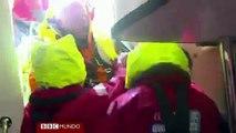 Dramático rescate en alta mar de un marinero a la deriva -- BBC Mundo