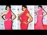 Hot Aditi Rao Hydri In Red Gown @ Filmfare Nomination Party