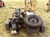 Wermacht WW2 Zundapp MotorCycle with scouting MG Sidecar  @ChinoAirShow, May2011