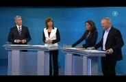 Stefan Raab beim TV Duell 2013 mit Merkel und Steinbrück