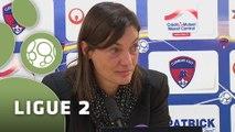 Conférence de presse Clermont Foot - AS Nancy-Lorraine (0-1) : Corinne DIACRE (CF63) - Pablo  CORREA (ASNL) - 2014/2015