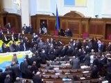 Ukraine Parliament fight  Kiew Parlament Crim naval base