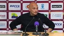 Réaction d'Olivier Pantaloni après AC Ajaccio - Stade Brestois 29