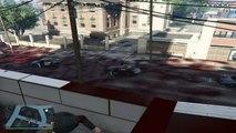 GTA V - Hardcore Police Chasing & Blood Floor Mods (more cops on chasing   más policía en persecución)