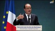 Rencontre avec les élus martiniquais : Allocution de François Hollande, le Président de la République Française