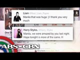 Bandila: One Direction thanks Pinoy fans