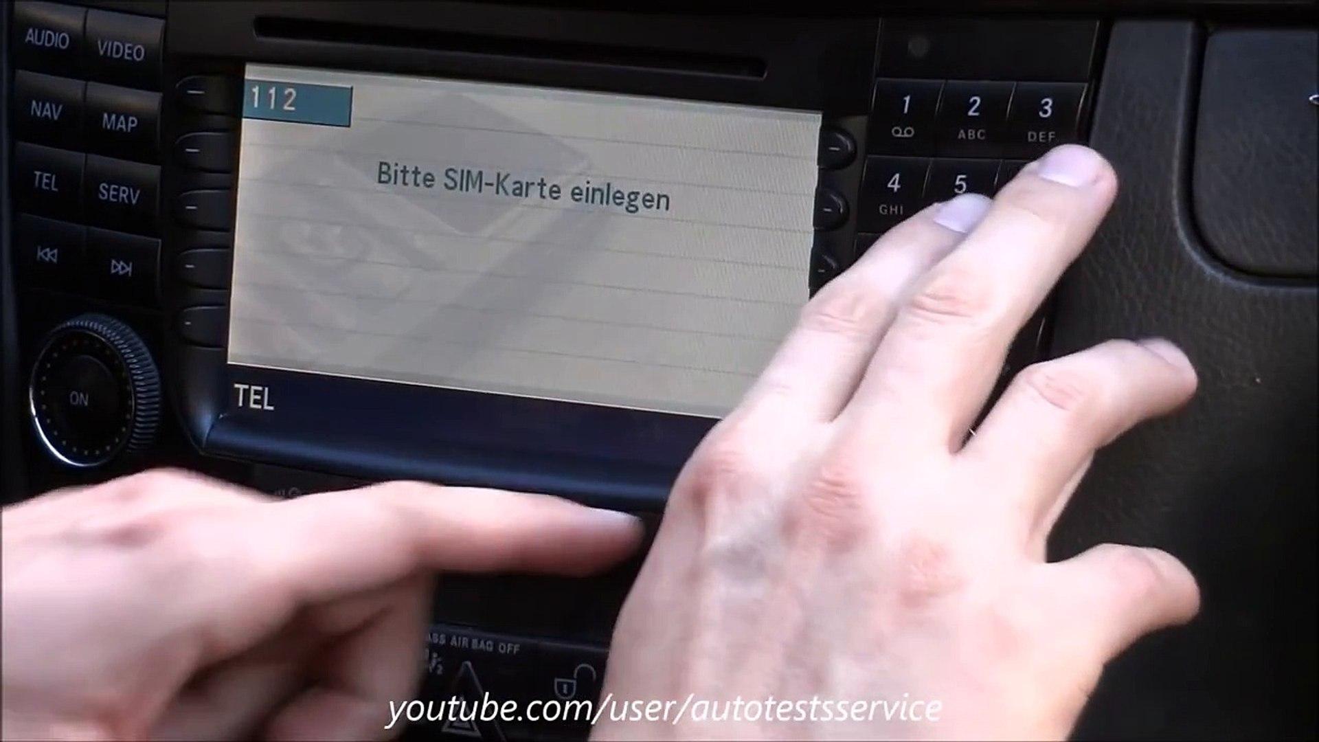 Mercedes W211 How to change COMAND logo to AMG (hidden menu)