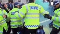 تظاهرات علیه سیاستهای سختگیرانه اقتصادی دولت کامرون در لندن