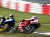 Race bikes crashes
