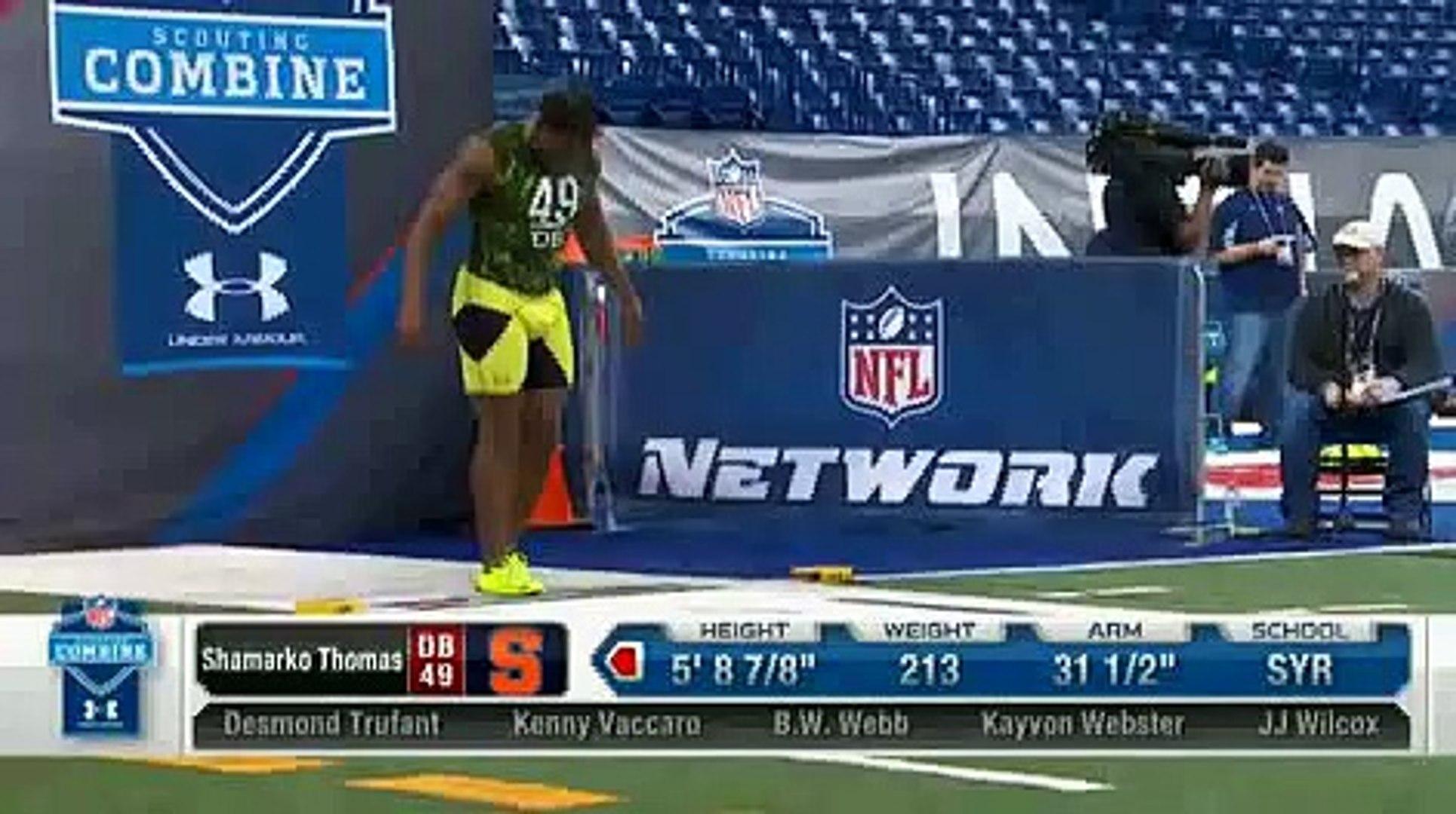 2013 NFL Combine Blooper - Shamarko Thomas Faceplants & STILL runs a 4.38 40 yard dash