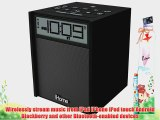 Sound Design iHome IBN180B Rubberized NFC Bluetooth Dual Alarm FM Clock Radio with USB Charging/Aux-In