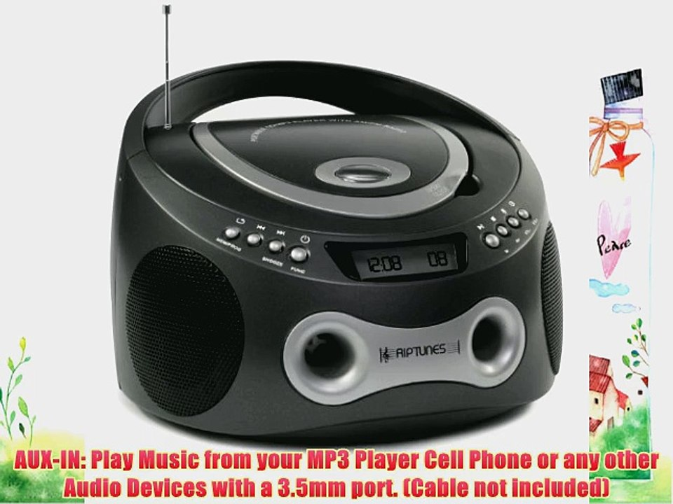 AC IN Power Cord Cable For Axess PB2706 Portable MP3//CD Player with AM//FM Radio