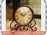 ECVISION European Style Retro Iron Craft Table Clock For HallShoe CabinetRestaurantBedroom
