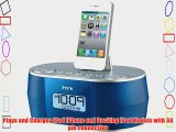 iHOME iD38LVC App-Enhanced Stereo System with Dual Alarm FM Clock Radio for iPhone/iPad/iPod