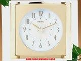 Seiko Bedside Alarm Get Up and Glow Clock Gold-Tone Metallic Case