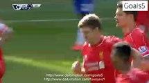 Steven Gerrard Goal Chelsea 1 - 1 Liverpool Premier League 10-5-2015