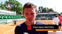 Paul Henri MATHIEU revient sur sa défaite en finale