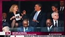 Celos de Michelle Obama en el homenaje a Nelson Mandela / Excélsior Informa con Mariana H