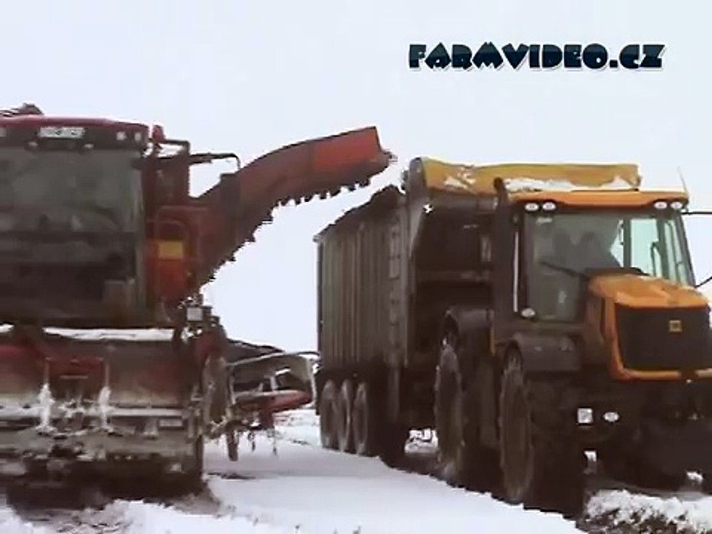 Extracting beet in snow & really big mud