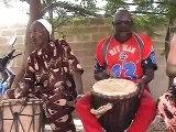 "Mali Djembe Music: ""Old Grand Masters"" Aruna and Brulye play djembe"