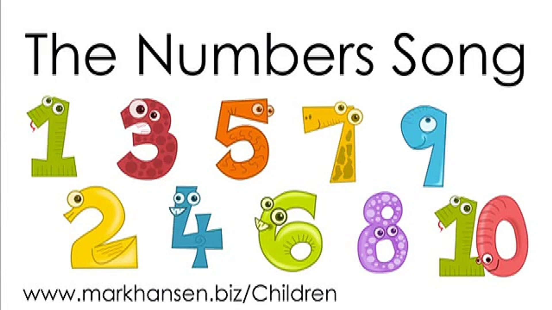 Counting Songs for Children 1-10 Numbers to Song Kids Kindergarten Toddle