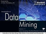 Data Mining, Stratified Random Sampling - Session 11