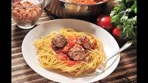 Espagueti con albóndigas - Recetas de cocina italiana - Spaghetti and meatballs