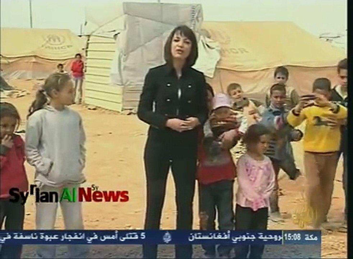 غادة عويس في مخيم الزعتري لنقل معاناة النازحين