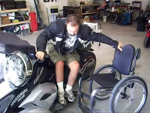 wheelchair transfer to Can Am Spyder
