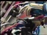 Jeff Ward, Rick Johnson,  David Bailey, Ron Lachine Supercross Race 1985 Anahiem Footage