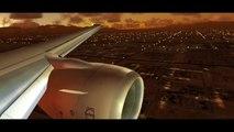 FSX Flight Simulator X HD - Landing Las Vegas - 8 Thread i7 OC @ 3.80 GHz and ATI 4870 HD X2