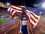 Michael Johnson Breaks 200m & 400m Olympic Records - Atlanta 1996 Olympics