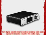 SMSL Q5 50WPC Optical Coaxial USB Digital Amplifier with Remote Control silver